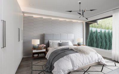 Luxus asunto hempeillä vaaleilla pinnoilla. Näissä kohteissa on huomioitu esteettömyys.