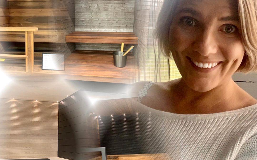 Kiva sauna- lauantai!  Olipa virkistävä päivä olla konsultoimassa asiakkaita