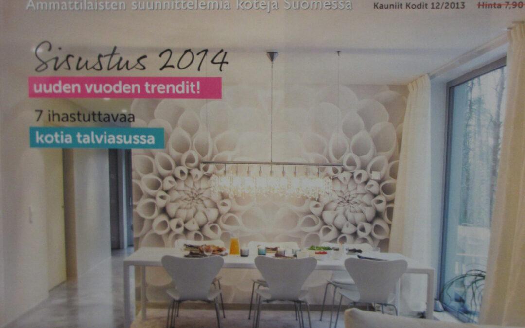 Kauniit kodit 12/2013 Lehtiartikkeli, suunnittelu Marikan SisustusStudio, toteutus Designkaluste Finland OY