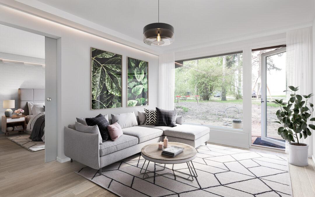 Luxus asunto, kerrostalon alakerta, vaalea puoli, Ahvenkuja 1, Espoo