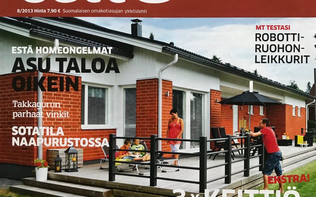 Meidän Talo 8/2013 Lehtiartikkeli, Marikan oma suunnittelema omakotitalo alusta loppuun