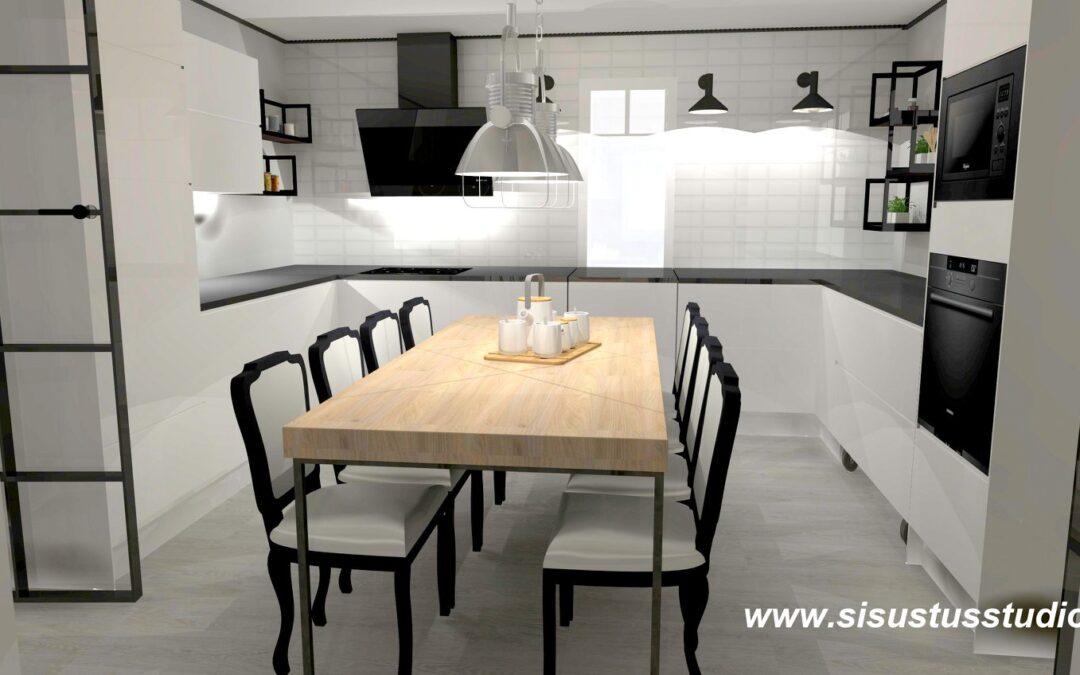 Rintamamiestalon muutos Bistro-keittiöksi ja muuten klassista sisustusta mukaillen.