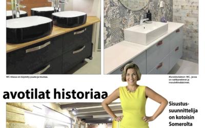 SOMERO – lehti, paikallinen media kotipuolessa. Syksyinen sisustus-artikkeli trendeistä 2019-2020.