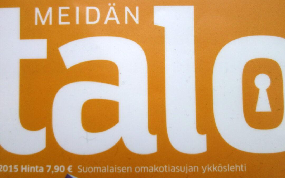 Meidän Talo lehtiartikkeli maaliskuu 2015 / Marikan SisustusStudio / Tiilenpäät  Oy/ Pöri